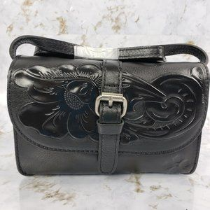 Patricia Nash Torri Tooled Leather Crossbody Purse